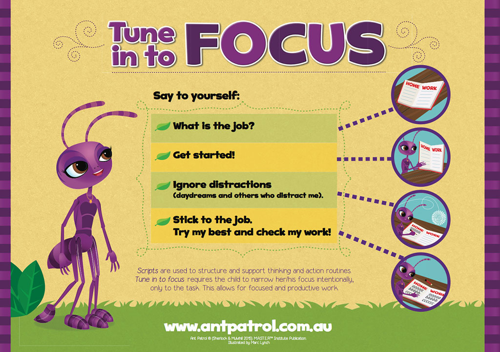 Focus St Tune >> Attention Control Poster Set - M.A.ST.E.R. Institute